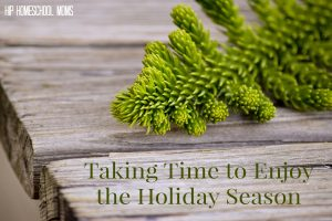 Taking Time to Enjoy the Holiday Season from Hip Homeschool Moms