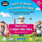 FREE Reading Eggs 4 Week Trial!