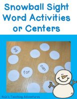 Winter-Sight-Word-Centers-Activities
