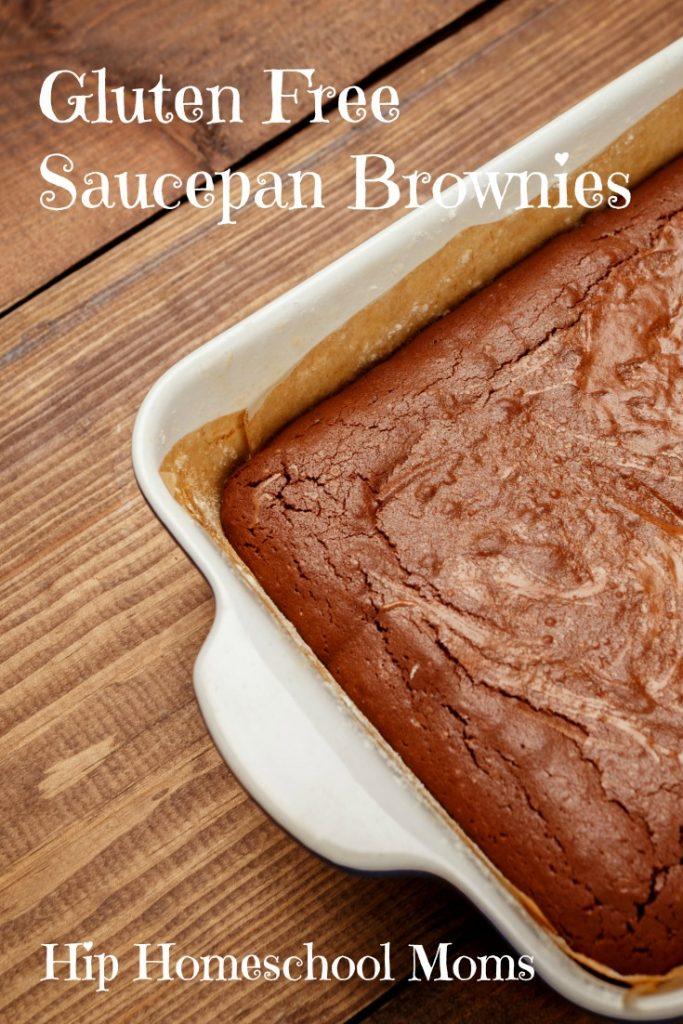 HHM Gluten Free Saucepan Brownies Pinnable Image