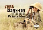 Screen Free Week (Let's Go Outside!) Printables