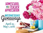 Wednesday's Giveaways for Homeschool Teacher Appreciation Week