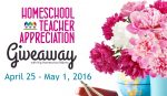 2016 Homeschool Teacher Appreciation Events and Giveaways
