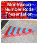 Montessori Number Rods Presentation {Free Printable}