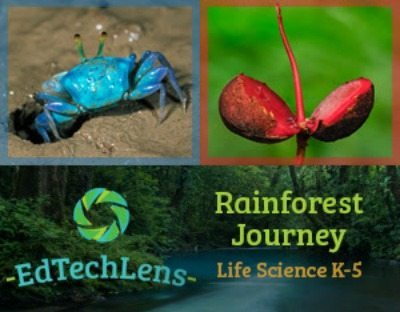 EdTechLens Rainforest Journey Science Curriculum for Summer or School Year