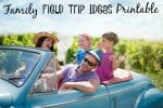 Family Field Trip Ideas Printable