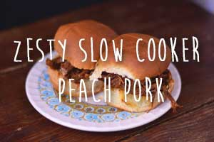 Zesty Slow Cooker Peach Pork | Hip Homeschool Moms