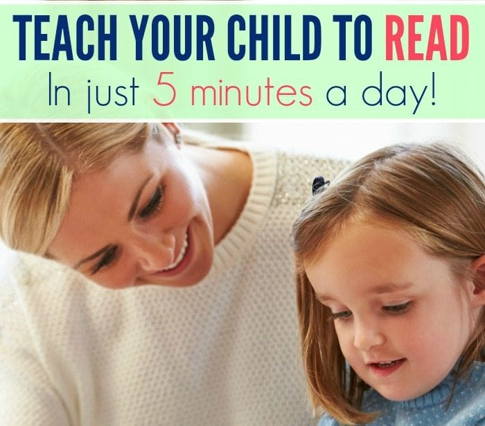 Teach Your Child to Read in Just 5 Minutes a Day!