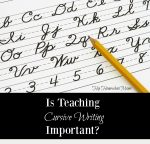 Is Teaching Cursive Writing Important?