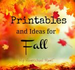 Printables and Ideas for Fall