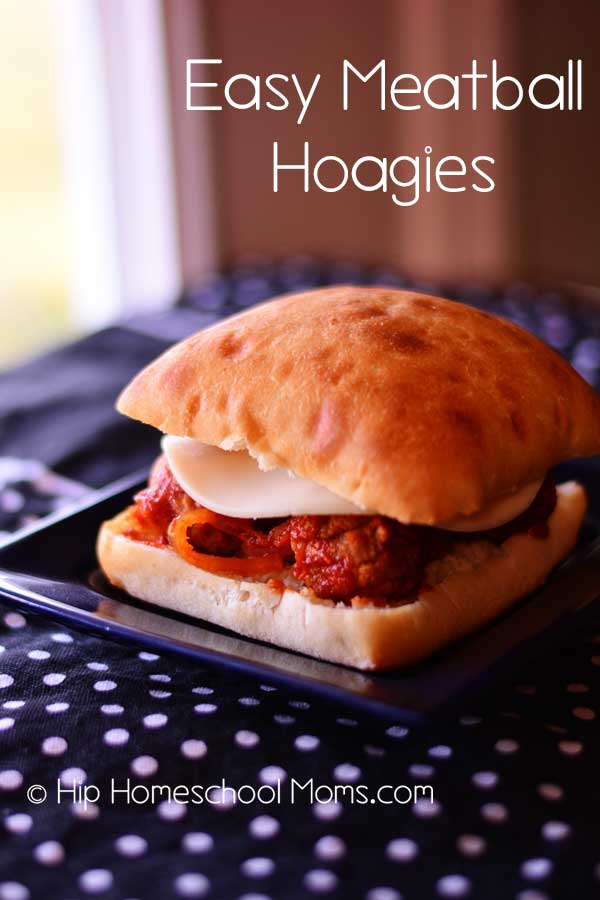 Easy Meatball Hoagies from Hip Homeschool Moms are a great slow cooker meal to whip up for your family