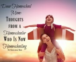 Great encouragement from a homeschooling mom who was homeschooled!