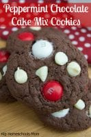 Peppermint Chocolate Cake Mix Cookies