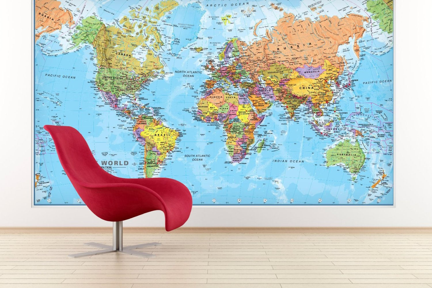World map wall art at home and interior design ideas cute giant world megamap large wall map paper with front sheet lamination x inches hip homeschool gumiabroncs Choice Image