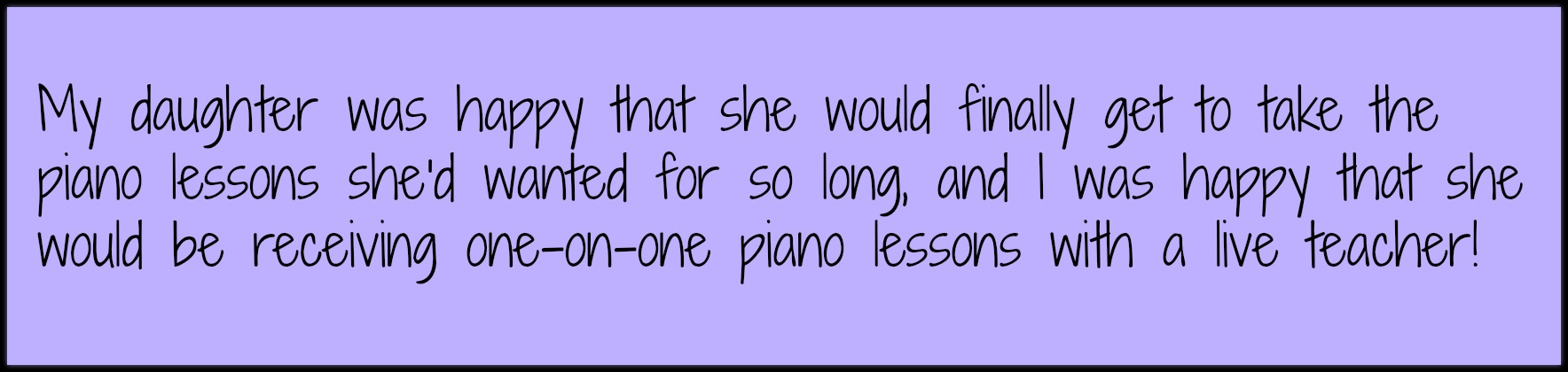 Real live piano lessons via Skype!