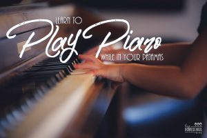 This is a great way to learn piano with online lessons right in your own home!