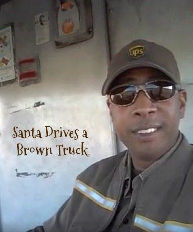 Santa Drives a Brown Truck