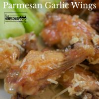 Picture and recipe for Parmesan Garlic Chicken Wings