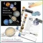 Solar System Notebook Pages