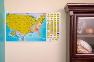 LIGHTNING DEAL ALERT Scratch Off World US Travel Tracker Map Set - Us travel alert map