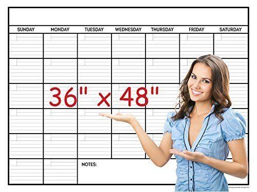 LIGHTNING DEAL ALERT! Jumbo Wall Calendar Laminated 36 X 48in Month Planner – 31% off