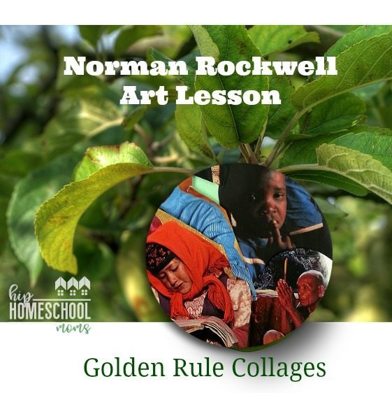 Norman Rockwell Art Lesson: Golden Rule Collages