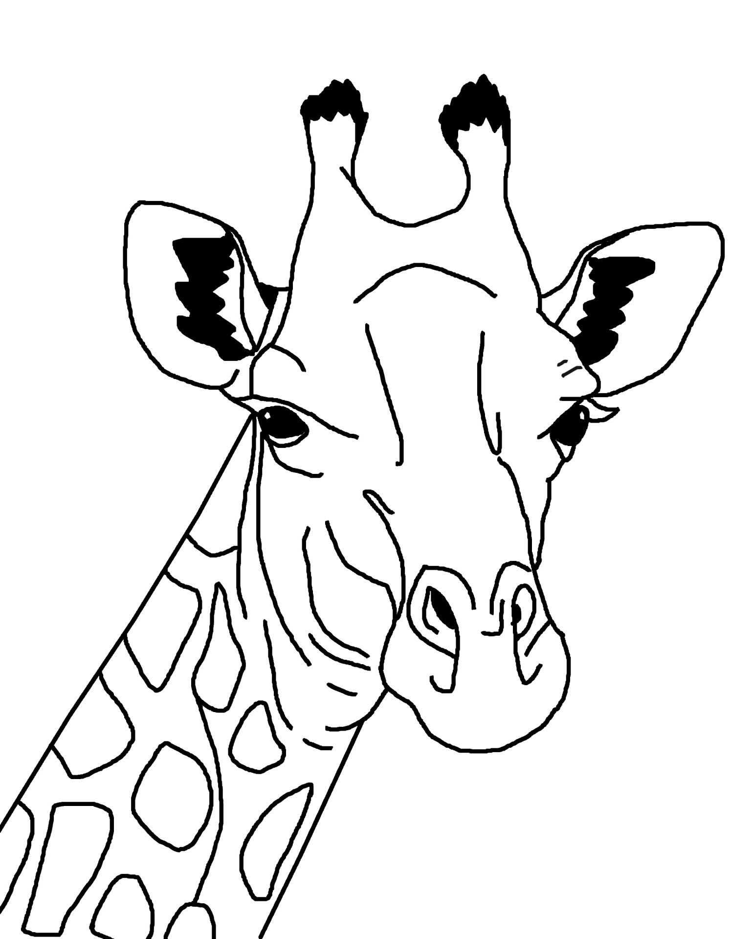 giraffe coloring page