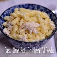 Easy One Pot Chicken Alfredo from Hip Homeschool Moms
