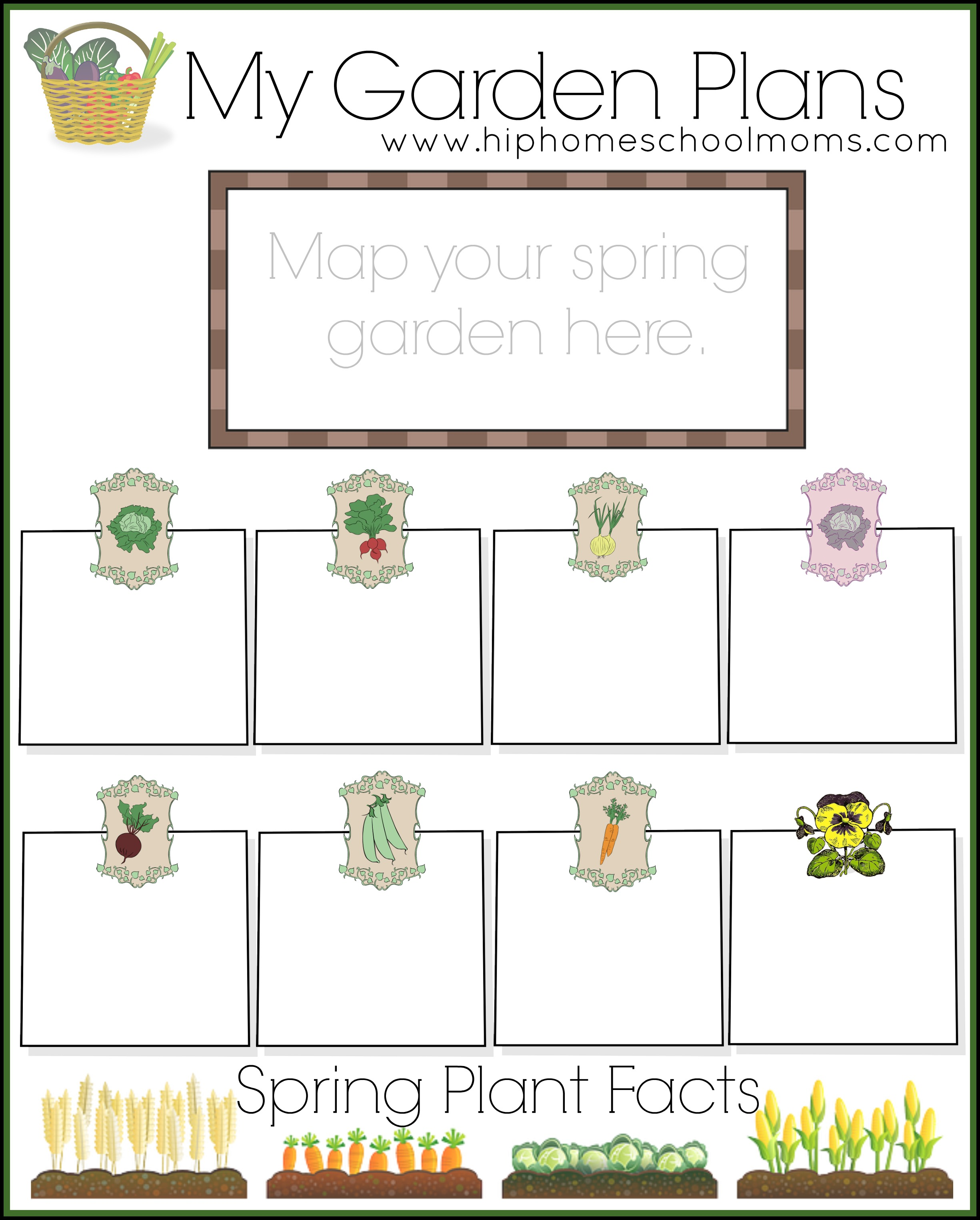 Free garden planner for kids hip homeschool moms for Home and garden planner