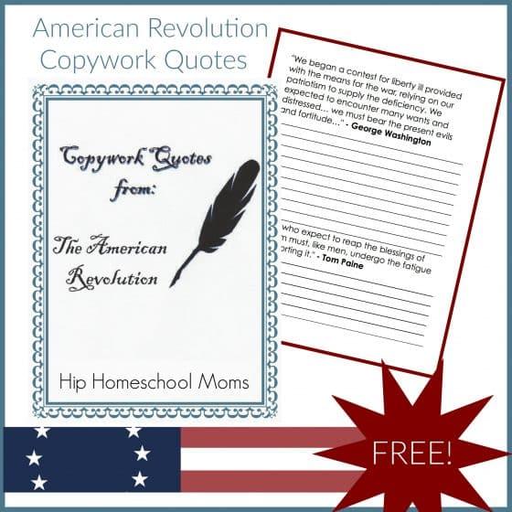 American Revolution Copywork Quotes