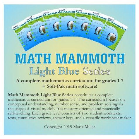 DEAL ALERT: Math Mammoth Light Blue Downloads – 26% off!