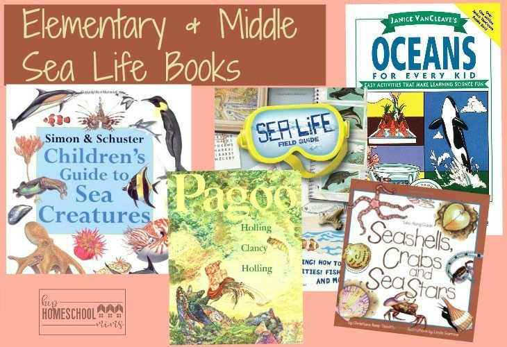 This is a great list of sea life books for your elementary and middle schoolers! |Hip Homeschool Moms