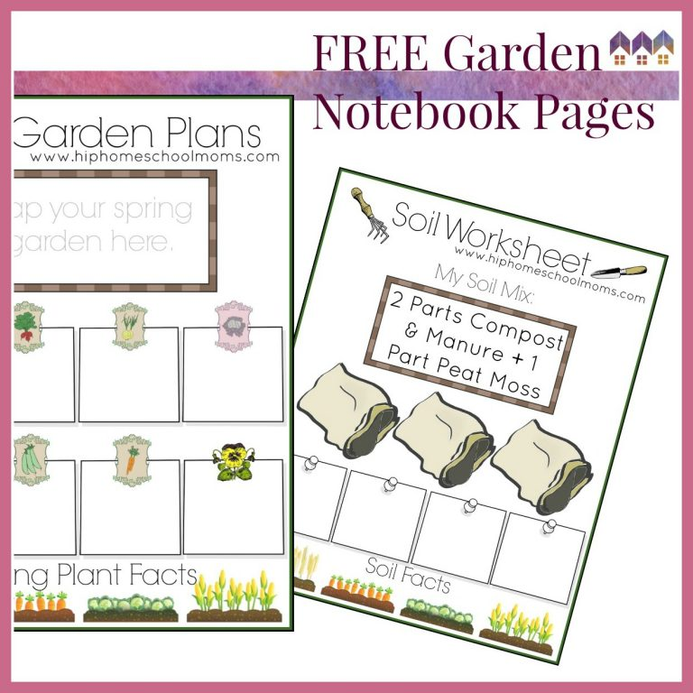 image of pages from a garden planner