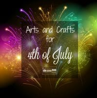 Easy and fun arts and crafts activities for 4th of July for kids!
