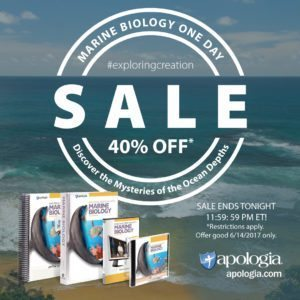HOMESCHOOL DEAL: Marine Biology 2nd Edition- 40% off TODAY ONLY!