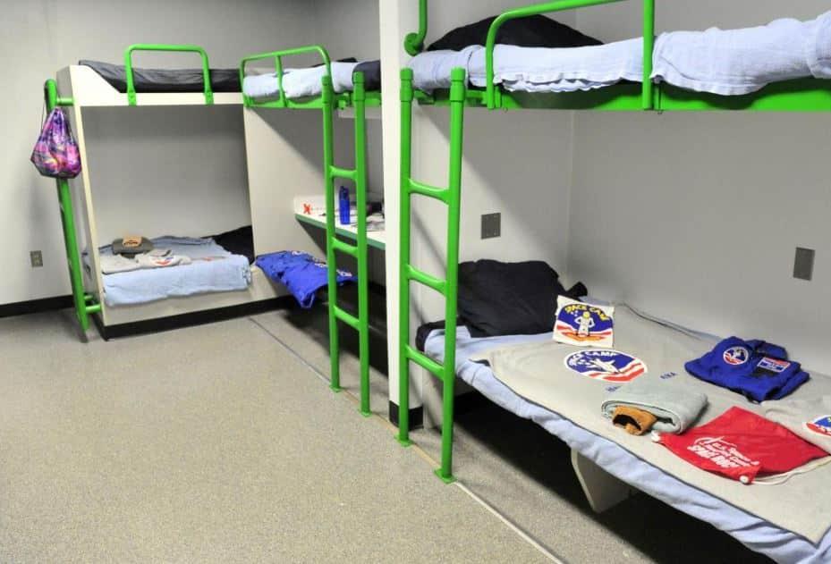 space camp habitat inside bunks