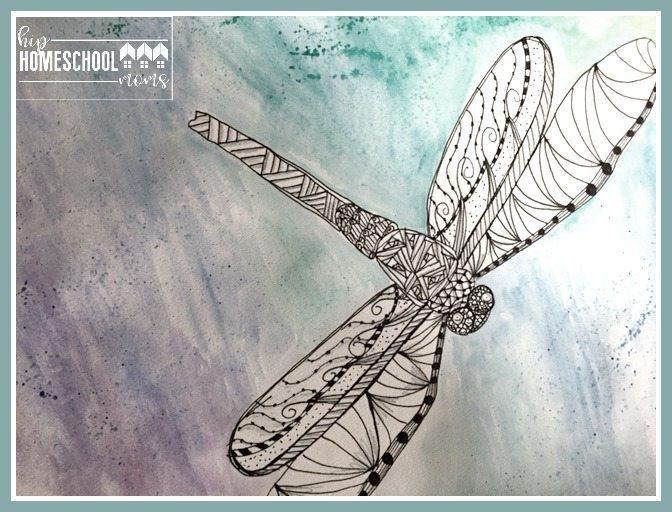 Dragonfly Zentangle