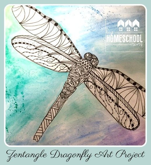 Zentangle Dragonfly Art Tutorial