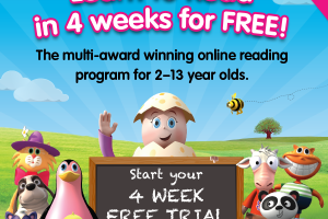 Free 4-week trial of Reading Eggs from Hip Homeschool Moms!