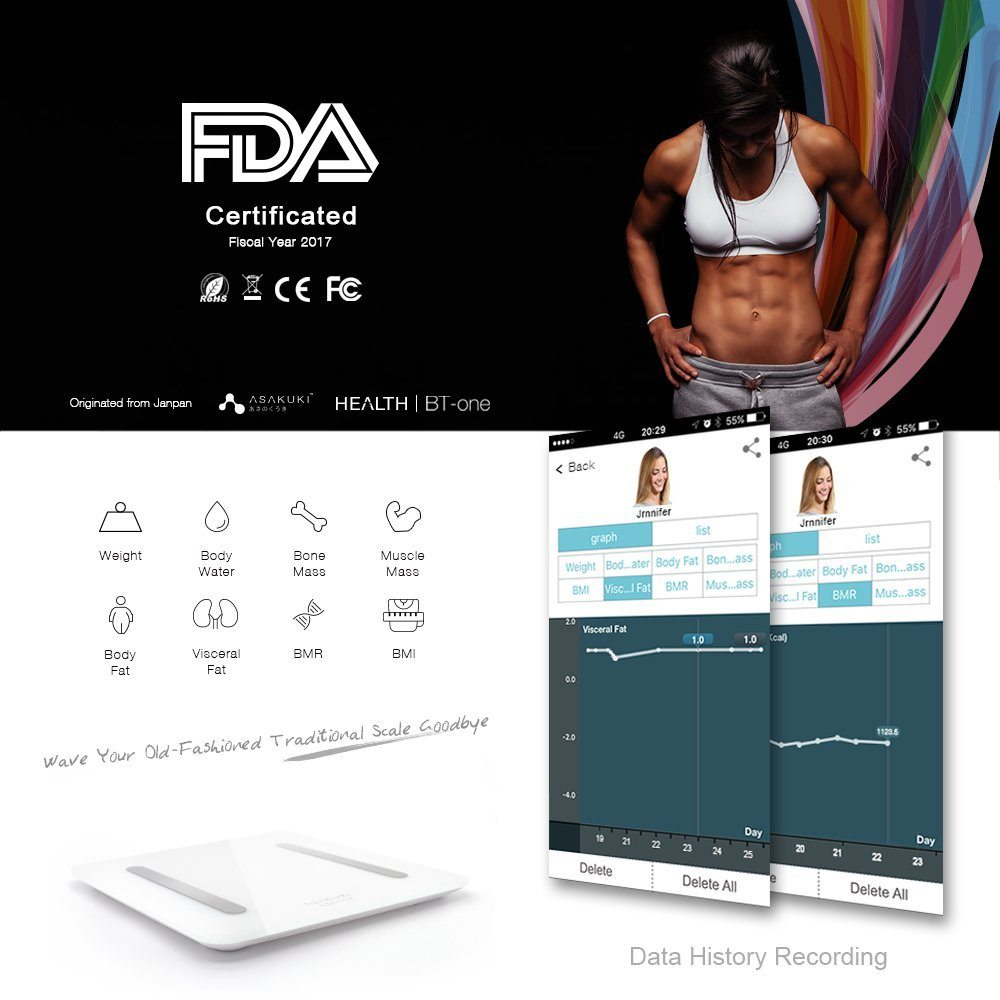 Bathroom scale body fat - Bluetooth Body Fat Scale Digital Weight Bathroom Scale 73 Off Number Of Stars 4 4 Out Of 5