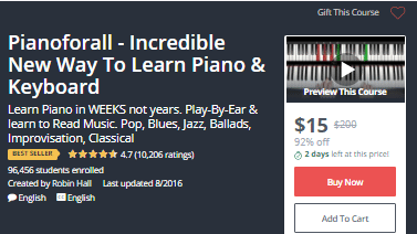 DEAL ALERT: Pianoforall – Incredible New Way To Learn Piano & Keyboard – 92%