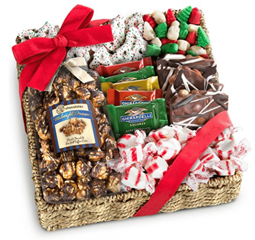 LIGHTNING DEAL ALERT! Golden State Fruit Holiday Classic Chocolate, Candy & Crunch Gift Basket – 33%