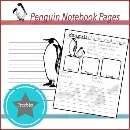 Free Penguin Notebook Pages