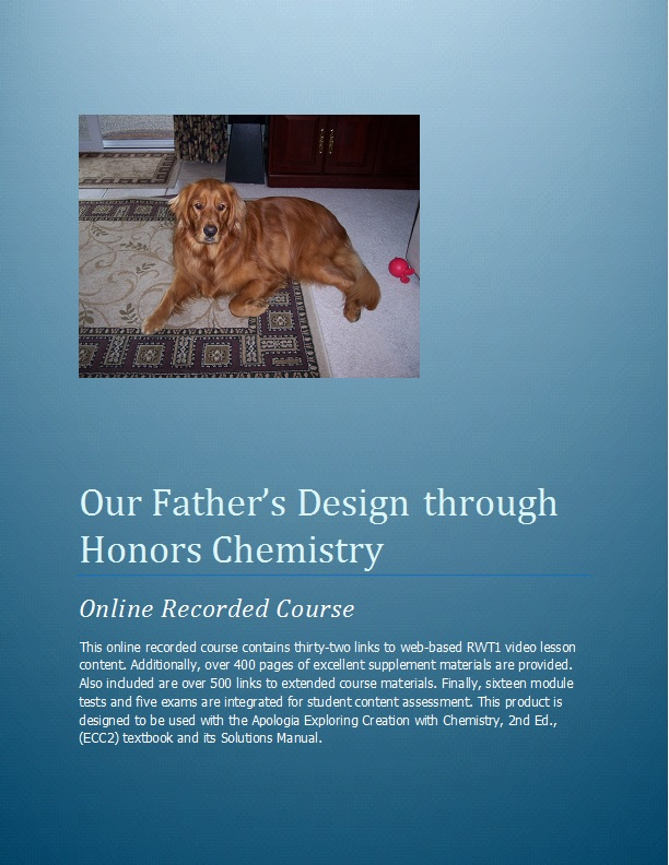 Our Father S Design Through Honors Biology